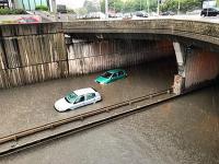 Zaplavený podchod na Bajkalskej ulici