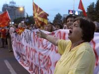 Demonštrácie v hlavnom meste Macedónska