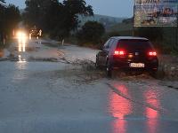 Zaplavená cesta pri Spišských Vlachoch