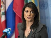 Americká veľvyslankyňa pri OSN Nikki Haleyová.