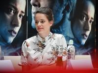 Tehotná Gabriela Marcinková na premiére svojho filmu.