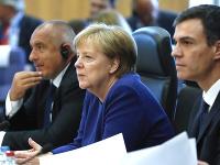 Angela Merkelová a Pedro Sanchez