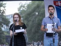Karolína Farská a Juraj Šeliga - predstavitelia iniciatívy Za slušné Slovensko