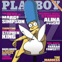 Marge Simpson na obálke Playboya