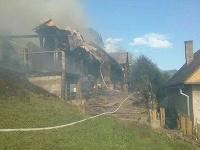 Požiar chaty