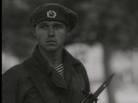 Archívny záber z filmu Môj neznámy vojak.