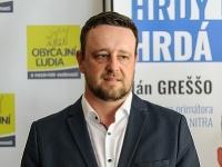 Ján Greššo ako kandidát v komunálnych voľbách 2018 pre Nitru.
