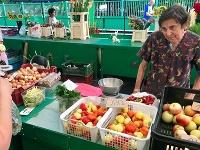 Babička na trhu v Nových Zámkoch