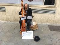 Hudobník v Starom Meste.