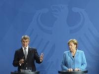 Český premiér Andrej Babiš a nemecká kancelárka Angela Merkelová.