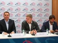 Peter Kažimír, Robert Fico a Robert Kaliňák na utorňajšej tlačovke