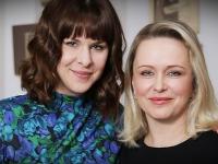 Michaela Čobejová s kolegyňou zo seriálu Som mama Kristínou Tormovou.