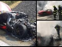 Nehoda na diaľnici v Česku.