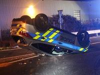 Pri nehode sa našťastie nik vážne nezranil.