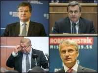 Miroslav Lajčák, Andrej Danko, Štefan Harabin a Robert Mistrík