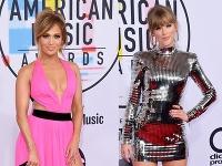 Jennifer Lopez a Taylor Swift vyzerali na červenom koberci skvele.
