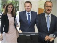 Andrea Kalavská, Peter Kažimír a Peter Gajdoš
