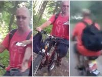 Cyklista vyhadzoval v žilinskom lesoparku smeti