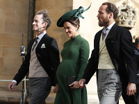 Pippa Middletonová, sestra britskej vojvodkyne z Cambridgea, jej manžel James Matthews (vľavo) a brat James Middleton
