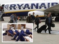 Posádka Ryanairu musela spať na zemi v kancelárii na španielskom letisku.