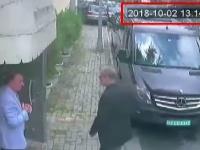 Džamál Chášukdží vchádza na saudskoarabský konzulát v Istanbule