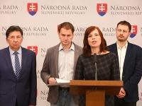 Členovia OĽaNO: Zľava Ján Budaj, Igor Matovič, Veronika Remišová a Eduard Heger