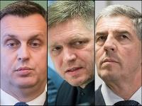 Andrej Danko, Robert Fico a Béla Bugár