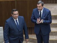 Poslanec Štefan Vavrek a predseda NR SR Andrej Danko.