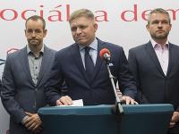 Hlavní činitelia strany Smer-SD.