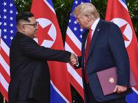Kim Čong-un a Dpnald Trump