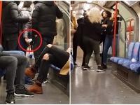 Hádka v londýnskom metre.