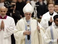 Pápež František sa prihovoril počas omše.