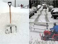 Sneženie na Slovensku.