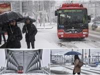 Sneženie v Bratislave.