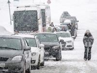 Sneženie v Rakúsku