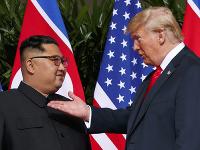 Kim Čong-un a Donald Trump