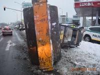 K netradičnej nehode cestného valca došlo v Ružomberku.
