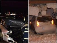 Polícia informovala o nehodách.