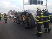 Pohľad na haváriu na D1.
