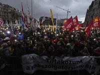 Protesty v Maďarsku pokračujú.
