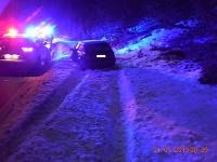 Opitý šofér skončil v snehu