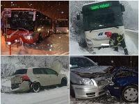 Škodové udalosti a nehody v dôsledku zlého počasia.