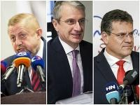 Štefan Harabin, Robert Mistrík a Maroš Šefčovič
