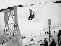 Archívna snímka z 5. apríla 1961 v Nízkych Tatrách.