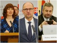 Veronika Remišová, Richard Sulík a Ondrej Dostál