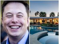 Elon Musk predáva svoje luxusné sídlo.