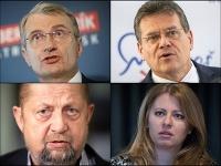 Robert Mistrík, Maroš šefčovič, Štefan Harabin a Zuzana Čaputová