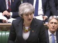 Britská premiérka Theresa Mayová hovorí na rokovaní Dolnej snemovne britského parlamentu 12. februára 2019 v Londýne
