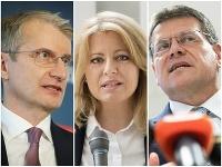 Robert Mistrík, Zuzana Čaputová a Maroš Šefčovič