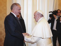 Andrej Kiska na audiencii u pápeža Františka I.